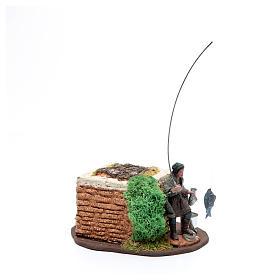 Pescatore in piedi 10 cm in pvc con movimento s2