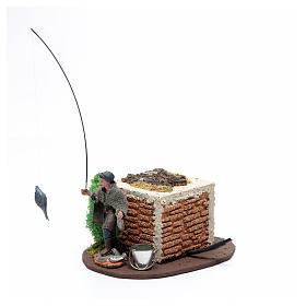Pescatore in piedi 10 cm in pvc con movimento s3