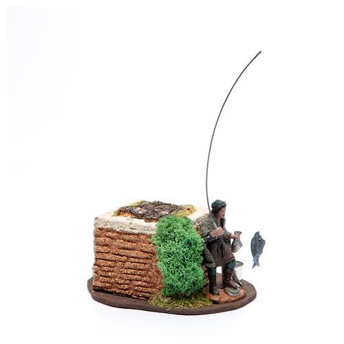Pescatore in piedi 10 cm in pvc con movimento 2