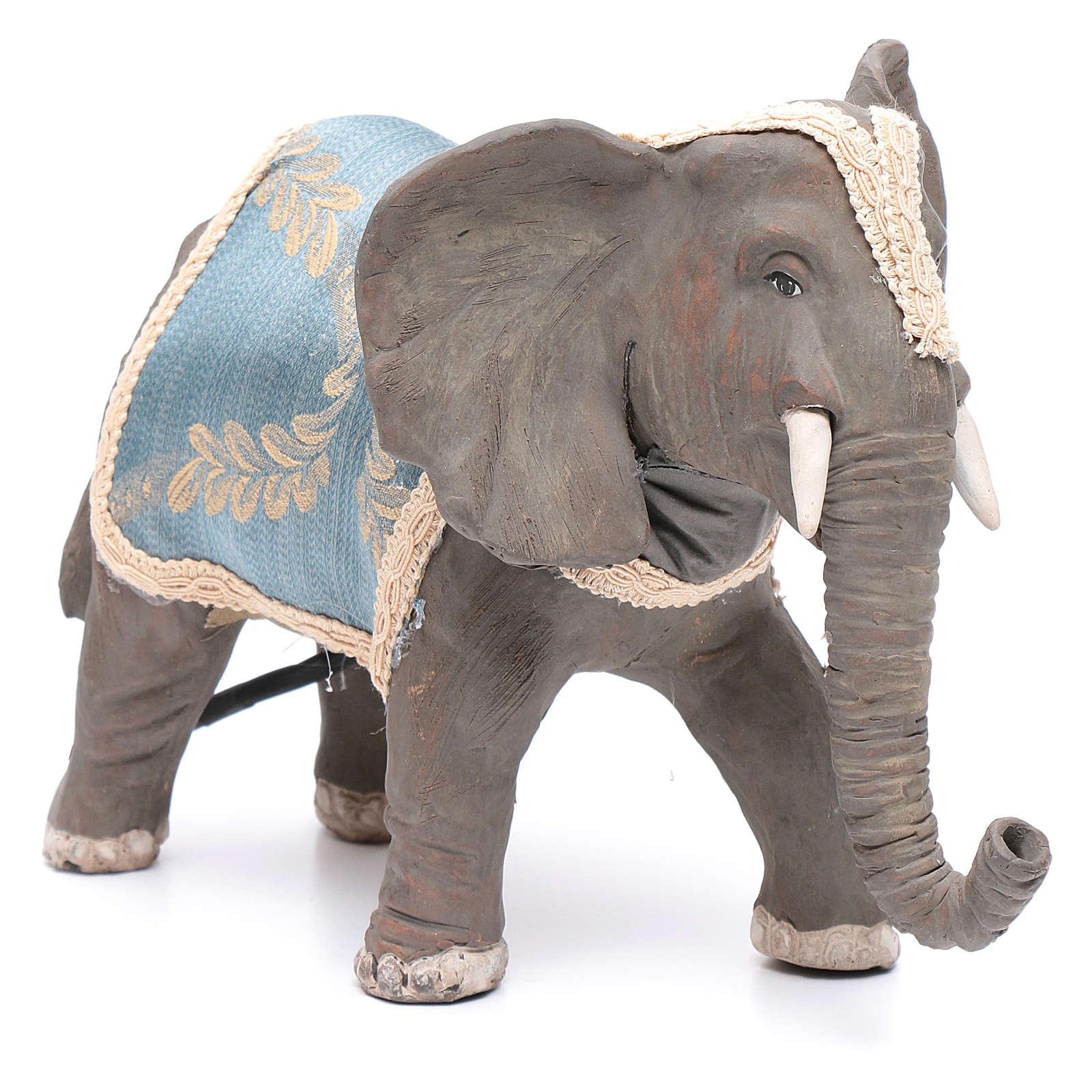 Elefante con movimento 12 cm presepe napoletano 4