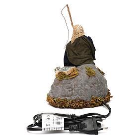 Man fishing from rock a 12cm Neapolitan Nativity animated figurine s4