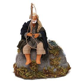 Presépio Napolitano: Pescador na rocha movimento para presépio napolitano com peças 12 cm altura média