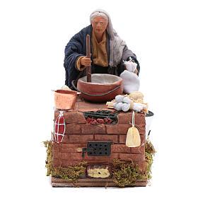 Donna in cucina 12 cm con movimento presepe napoletano s1
