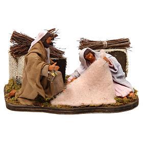 Presépio Napolitano: Natividade sentada movimento para presépio napolitano com  figuras altura média 12 cm