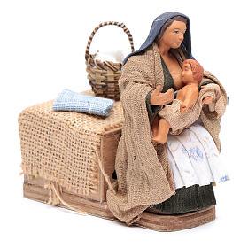 Donna che allatta 12 cm con movimento presepe napoletano s3