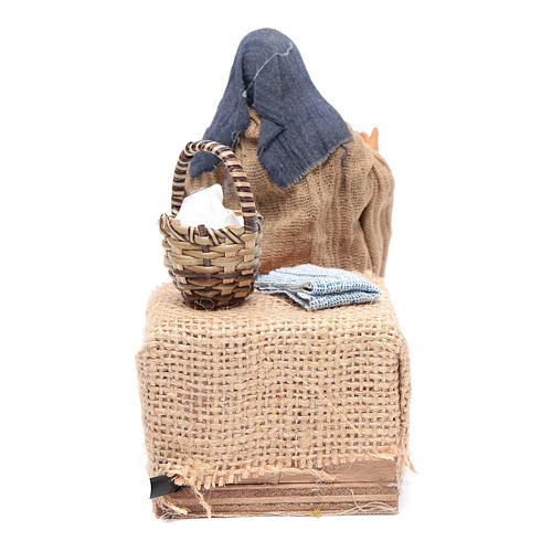 Moving woman breastfeeding 12 cm Neapolitan nativity scene 4