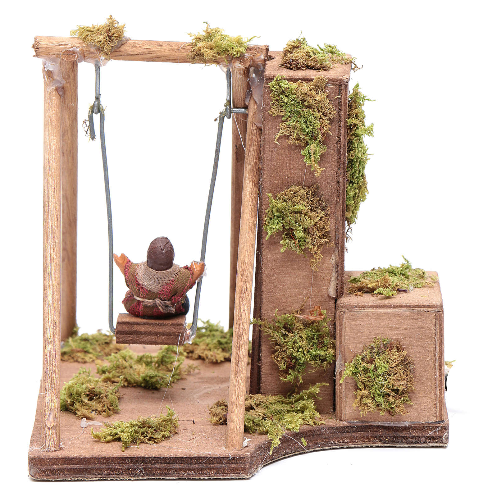 Moving child on the swing 10 cm for Neapolitan nativity scene 4
