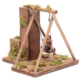 Moving child on a swing 10 cm for Neapolitan nativity scene s2