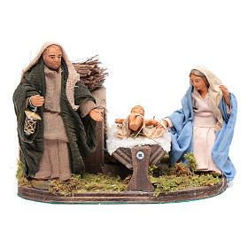 Presépio Napolitano: Natividade com movimento para presépio napolitano com  figuras altura média 10 cm