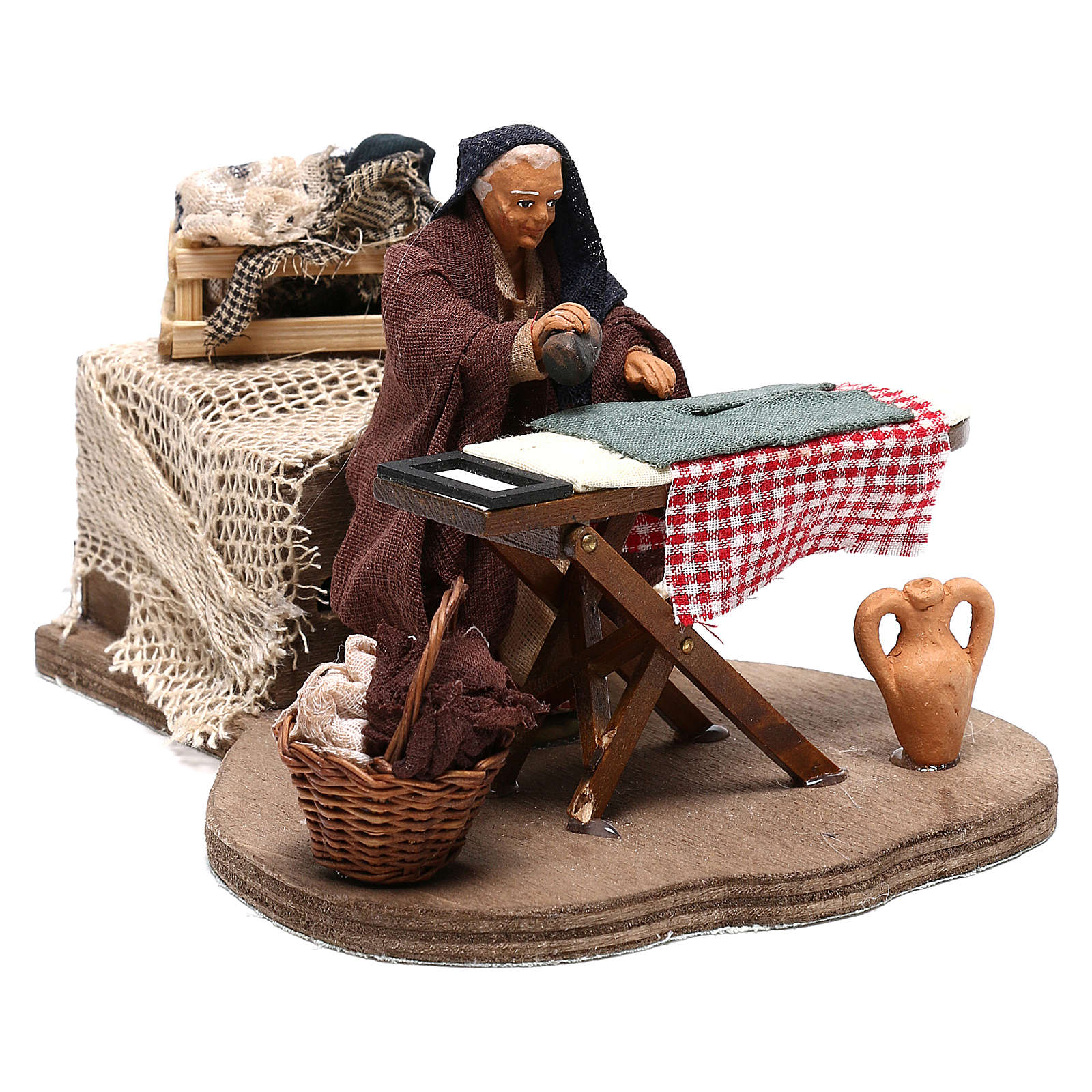 Woman ironing 10 cm  for Neapolitan nativity scene 4