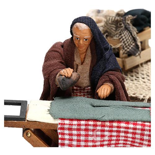 Woman ironing 10 cm  for Neapolitan nativity scene 2