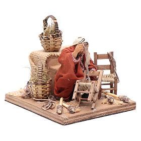 Riparatore sedie con movimento 10 cm presepe napoletano s3