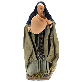 Moving woman with amphora for Neapolitan nativity scene s1