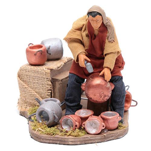 Moving pot fixer 14 cm for  Neapolitan nativity scene 1