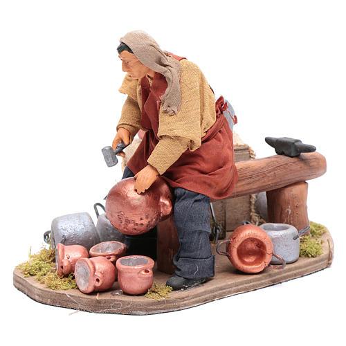 Moving pot fixer 14 cm for  Neapolitan nativity scene 2