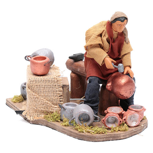 Moving pot fixer 14 cm for  Neapolitan nativity scene 3