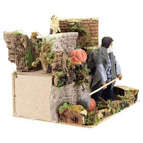 Agriculteur 12 cm avec mouvement terre cuite s3