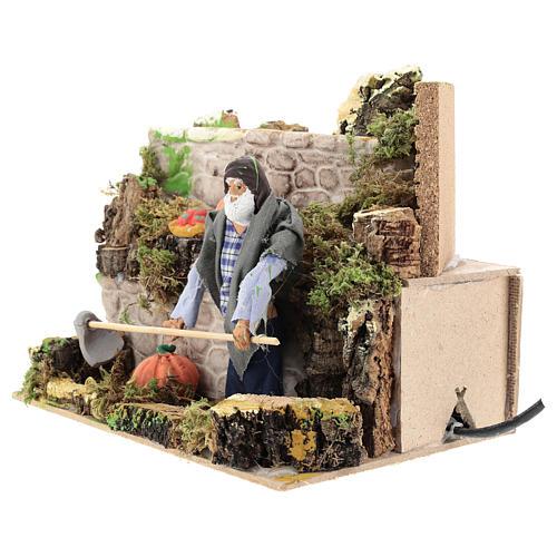 Agriculteur 12 cm avec mouvement terre cuite 2