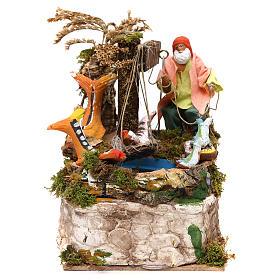 Figuras em Movimento para Presépio: Pescador 12 cm movimento terracota
