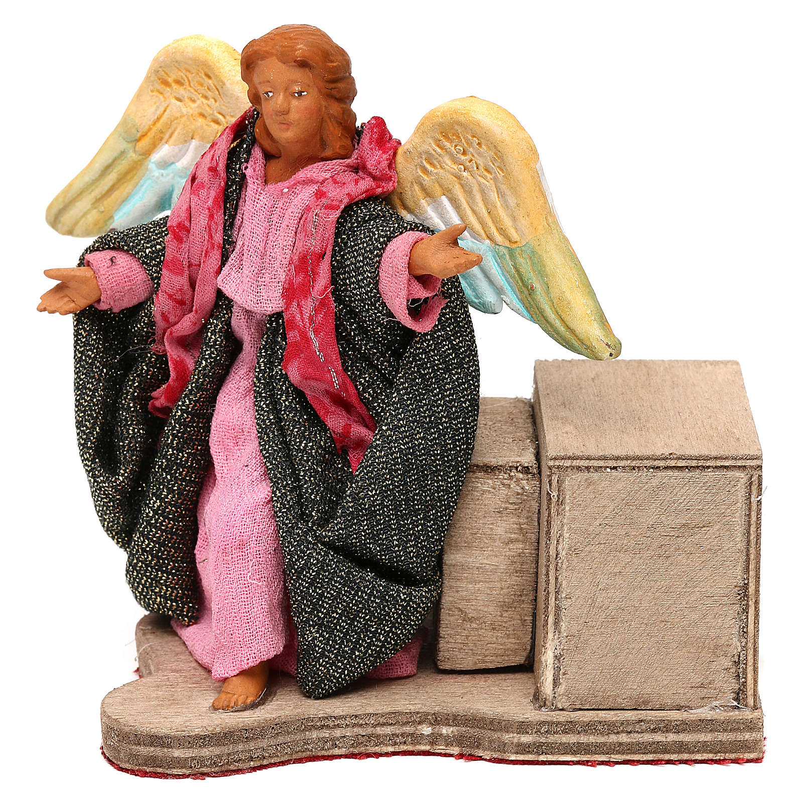 Moving angel 12 cm for Neapolitan nativity scene 4