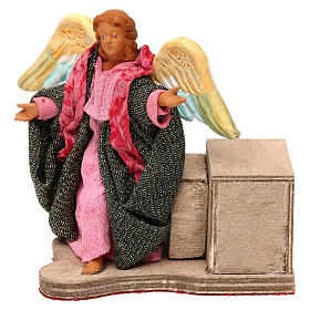 Moving angel 12 cm for Neapolitan nativity scene s1