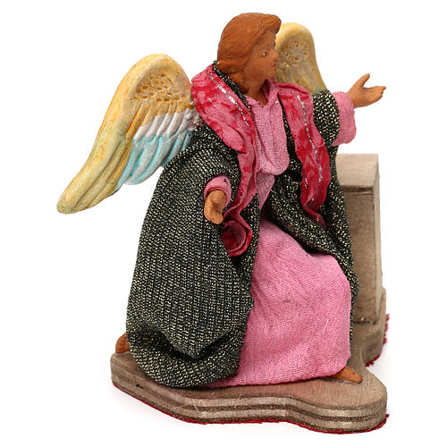Moving angel 12 cm for Neapolitan nativity scene 2