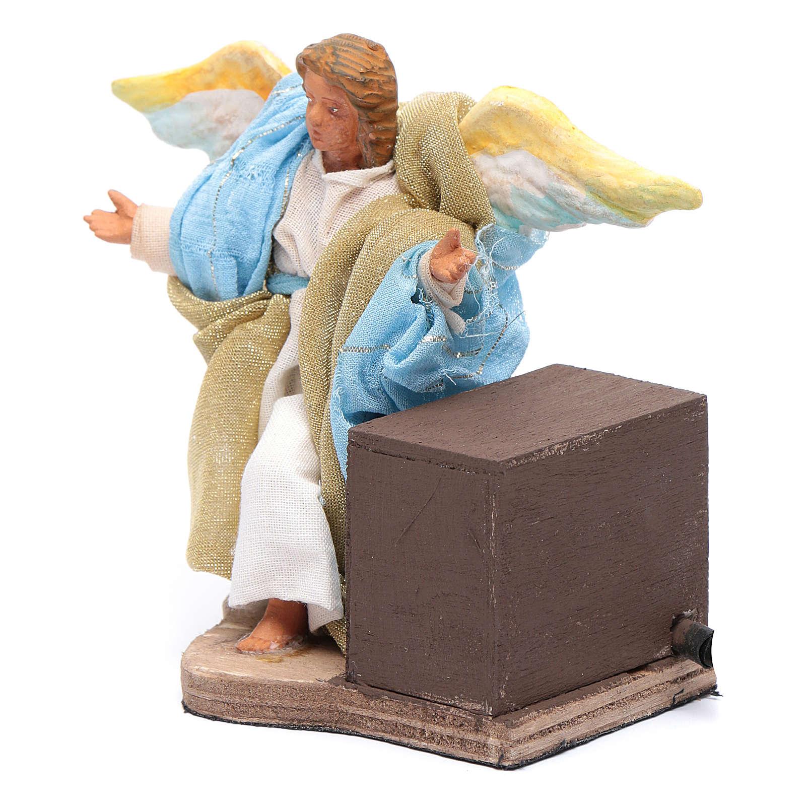 Movimento angelo 12 cm presepe napoletano 4