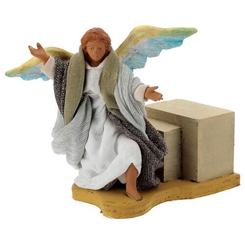 Movimento angelo 12 cm presepe napoletano 2