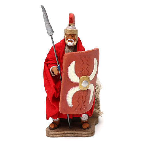 Moving soldier with spear 12 cm 1