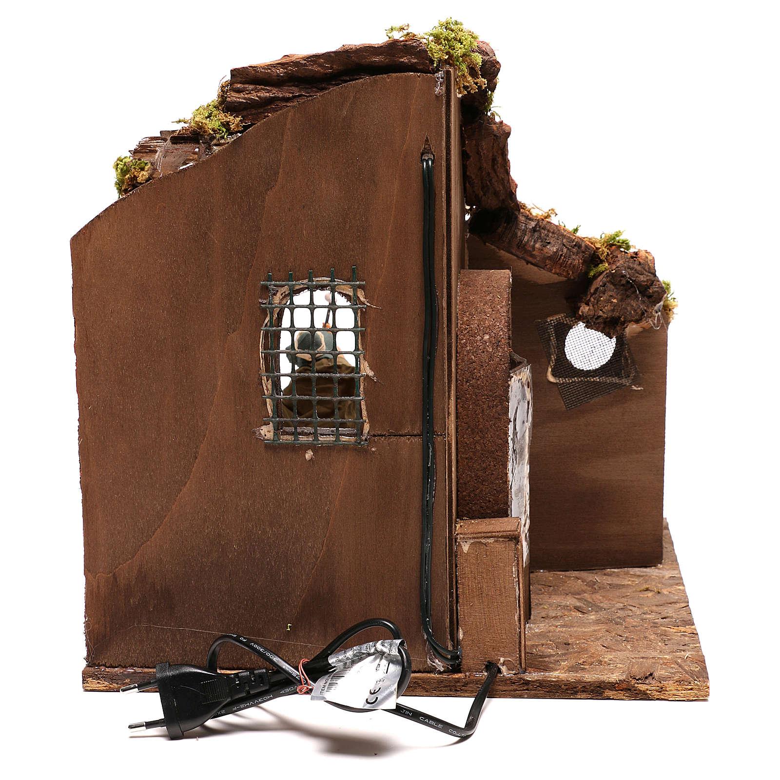 Moving carpenter 12 cm for nativity scene 4