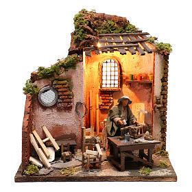 Moving carpenter 12 cm for nativity scene s1