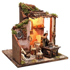Moving carpenter 12 cm for nativity scene s4