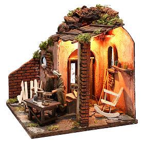 Moving carpenter 12 cm for nativity scene s5