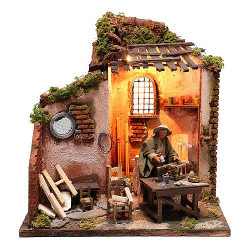 Moving carpenter 12 cm for nativity scene 1