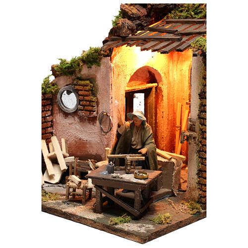 Moving carpenter 12 cm for nativity scene 2
