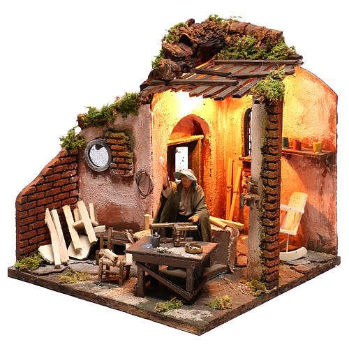 Moving carpenter 12 cm for nativity scene 3