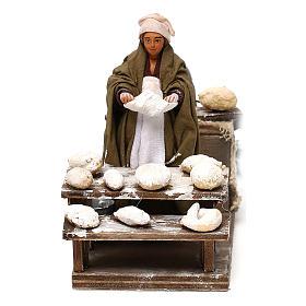 Presépio Napolitano: Movimento mulher que molda pão para presépio com  figuras altura média 10 cm