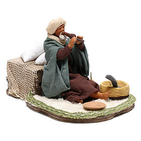 Moving snake charmer 14 cm for Arabian style Neapolitan nativity scene s4