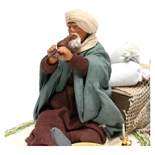 Moving snake charmer 14 cm for Arabian style Neapolitan nativity scene 2