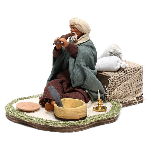 Moving snake charmer 14 cm for Arabian style Neapolitan nativity scene 3