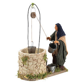 Moving man at the well 14 cm for Neapolitan nativity scene s3