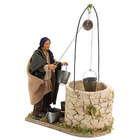 Moving man at the well 14 cm for Neapolitan nativity scene s4