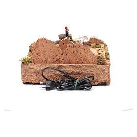 Pasterz ruchoma figurka na wozie z koniem otoczenie szopki s4