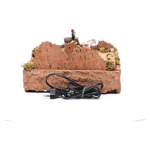 Pasterz ruchoma figurka na wozie z koniem otoczenie szopki 4