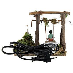 Neapolitan nativity scene moving girl on swing 8 cm s4