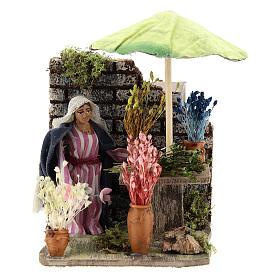 Presépio Napolitano: Florista com movimento 8 cm presépio de Nápoles