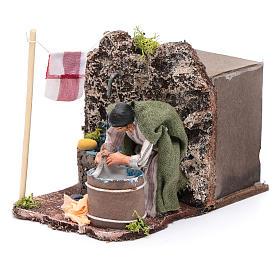 Neapolitan nativity scene moving laundress 8 cm s2