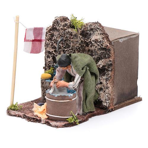 Neapolitan nativity scene moving laundress 8 cm 2