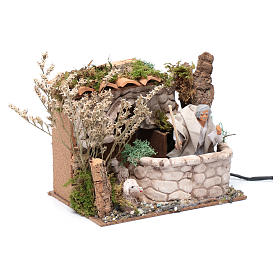 Nativity scene moving shepherd 15x20x15 cm s3