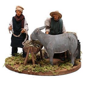 Moving farrier with farmers 12 cm for Neapolitan nativity scene s3